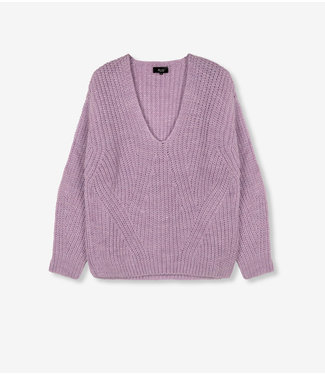 ALIX Knitted v-neck pullover - lilac