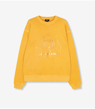 ALIX Foiled sweater - yellow