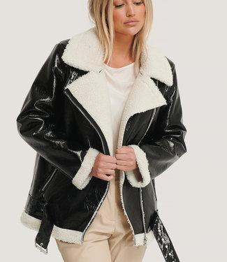 NA-KD Shiny aviator jacket 1018-005352