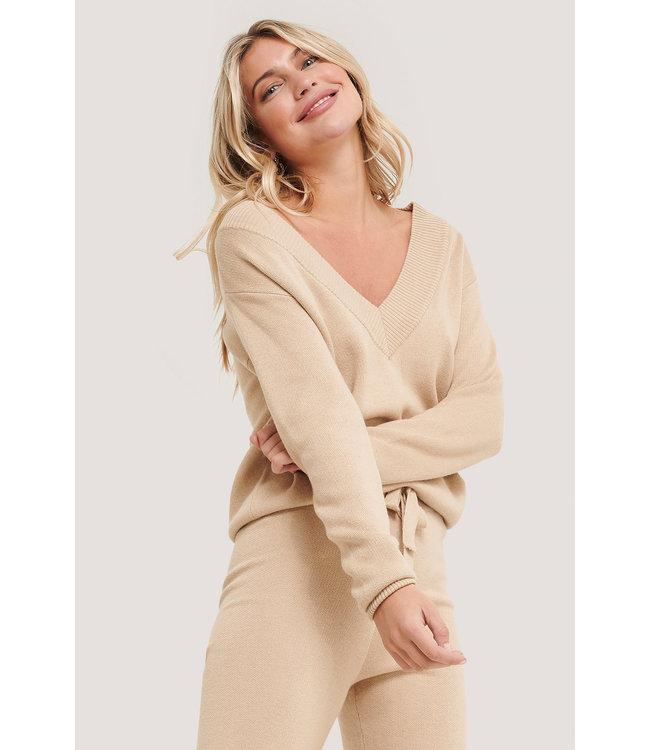 Lounge sweater 005375 - beige