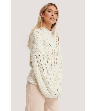 NA-KD Raw knit 006641 - white