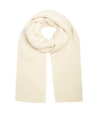Scarf knitted - offwhite