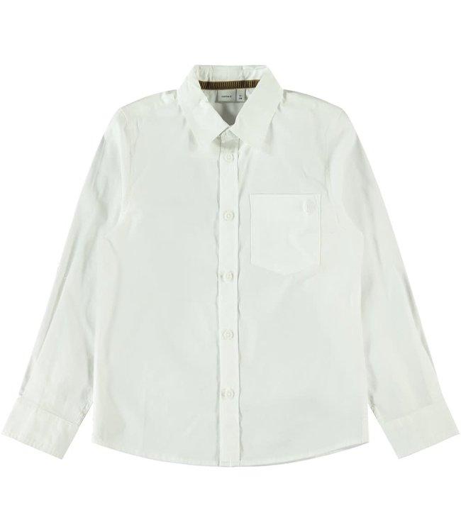 NKMRAUL Shirt 13182873 - white