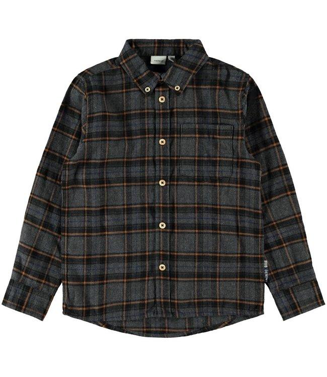 NKMSAUL Shirt 13182881 - dark grey