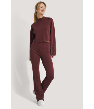NA-KD Flared lounge pants 005408 - burgundy