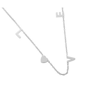 Ketting Love Letters - silver