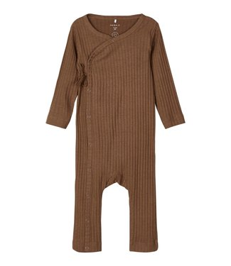 name it NBMSERIO Jumpsuit 13192268 - Coffee