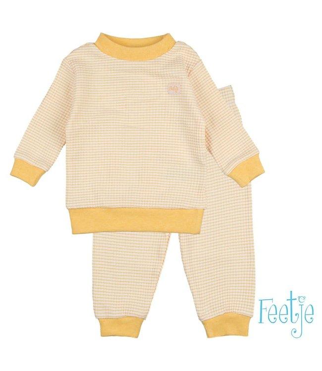 Wafel pyjama - okergeel