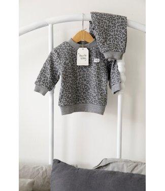 Feetje Wafel pyjama - antraciet leopard