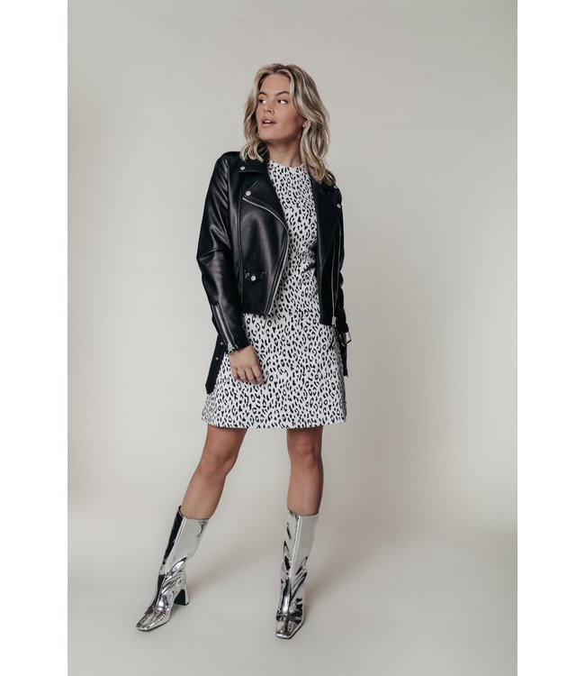 Robbie Leopard A-line Dress 10009