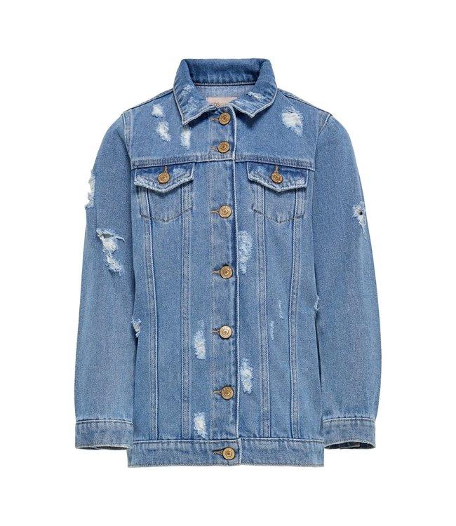 KONEMILIA Long dnm jacket 15225309 - medium blue