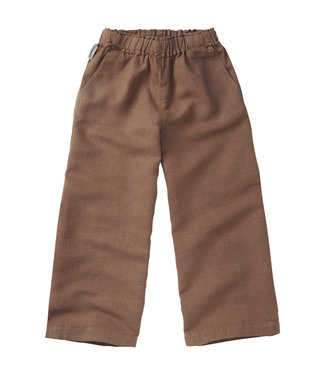 MINGO Linen Wide Pants Warm Earth