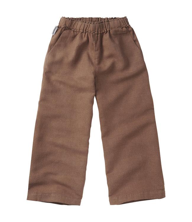 Linen Wide Pants Warm Earth