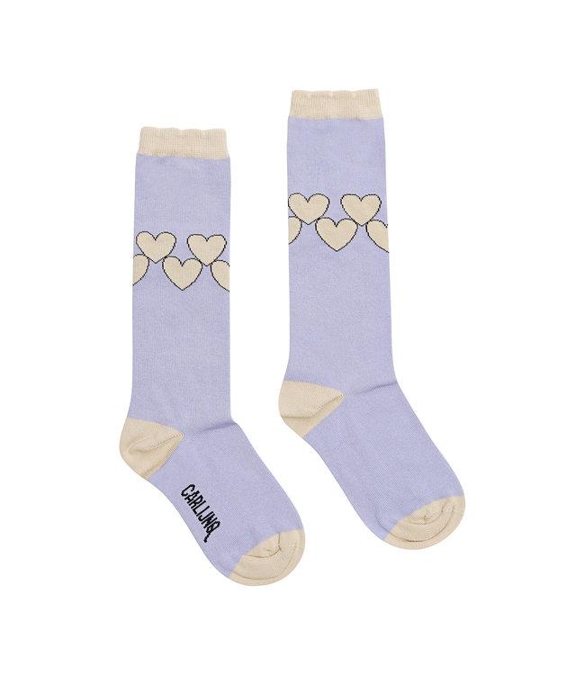 Knee socks - hearts