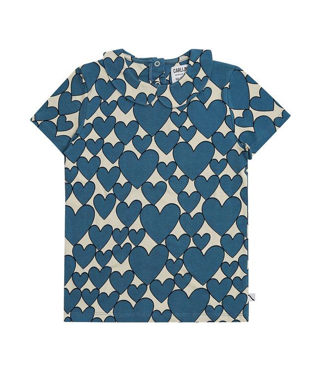 Hearts - T-shirt collar
