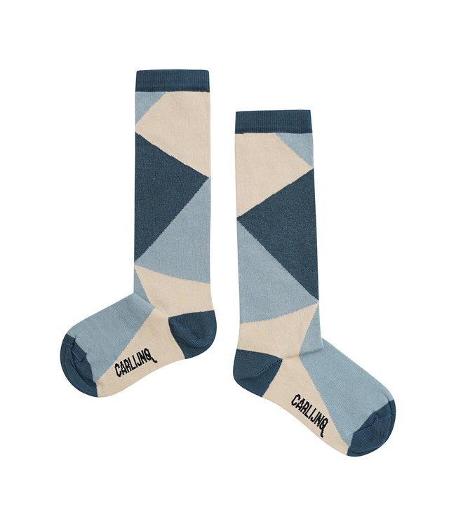 Knee socks - color block