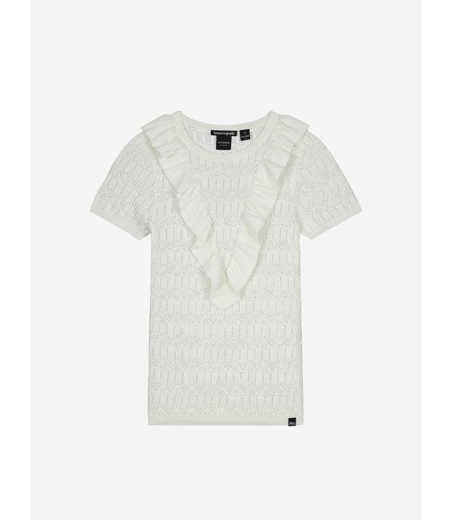 Jelina Short Sleeve Top 7-578 - Vintage White