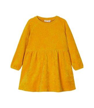 name it NMFRIE Dress 13186165 - Inca Gold