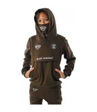 BLACK BANANAS Mask Hoody KFW20/007- moss