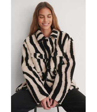 NA-KD Animal Shacket 007180 zebra