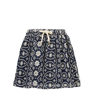 FLO Broidery skirt 102-5730 - navy