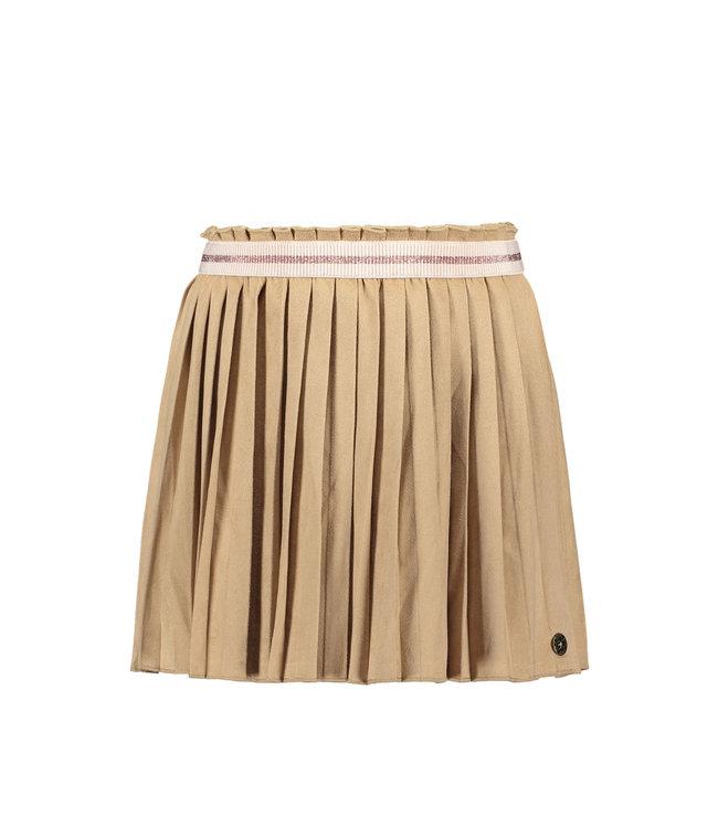 Suede plisse skirt 102-5710 - mud