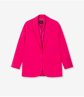 ALIX Oversized stretch blazer - shocking pink