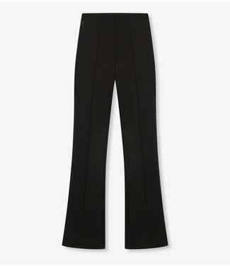 ALIX Knitted flared pants - black