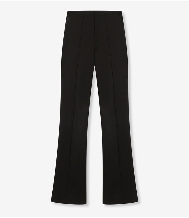 Knitted flared pants - black