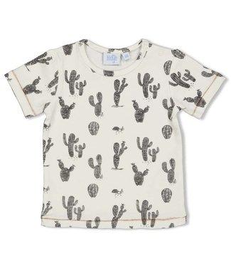 Feetje T-shirt cactus 51700614 - black/white