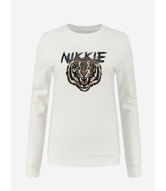 NIKKIE NIKKIE Tiger Sweater 8-942 star white