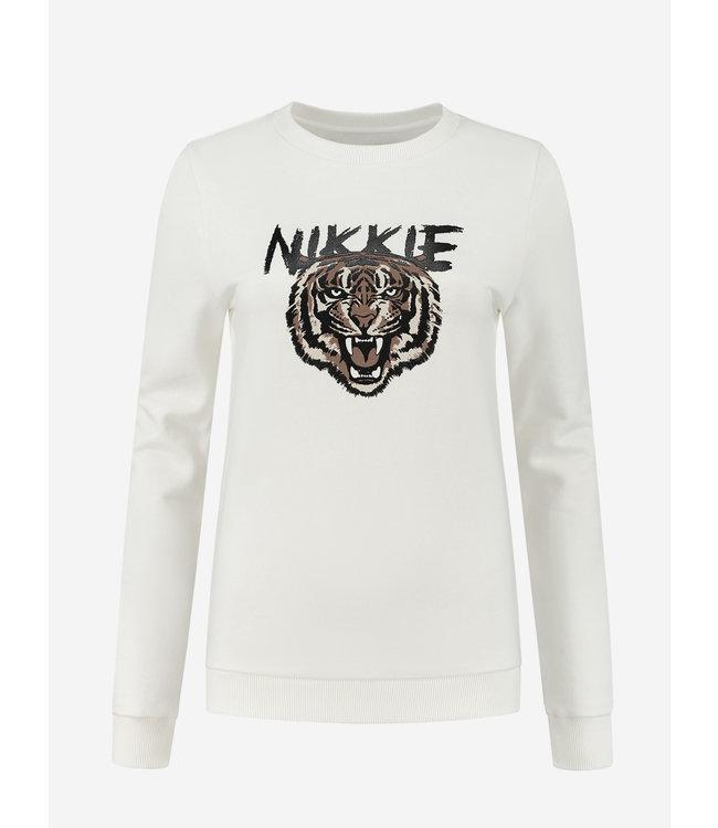 NIKKIE Tiger Sweater 8-942 star white