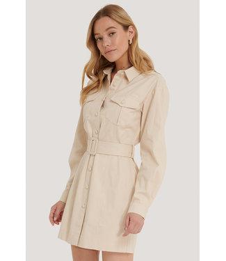 NA-KD Workwear Dress 006368 - Light Beige