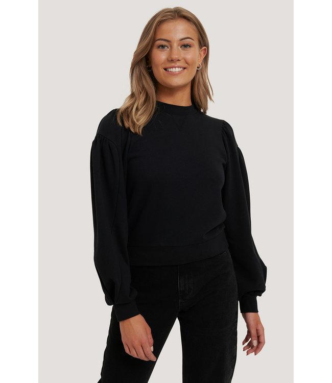 Puff Sleeve Sweatshirt 000242 - Black