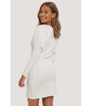 NA-KD Jersey Dress 000249 - Offwhite