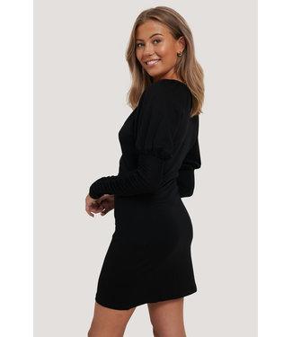 NA-KD Jersey Dress 000249 - Black