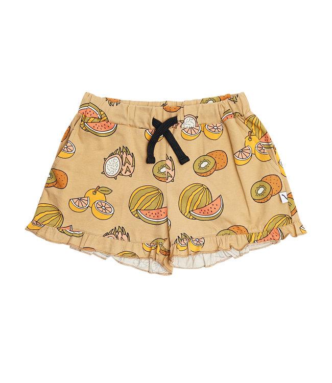 Summer Fruit - ruffled shorts