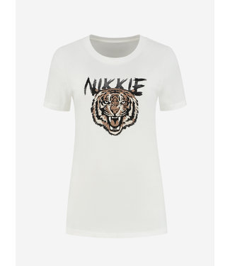 NIKKIE NIKKIE Tiger T-shirt star white