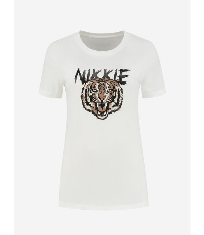 NIKKIE Tiger T-shirt star white