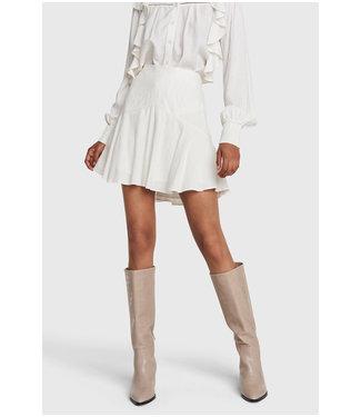 ALIX Seer sucker stripe skirt - soft white