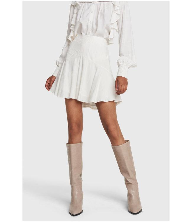 Seer sucker stripe skirt - soft white