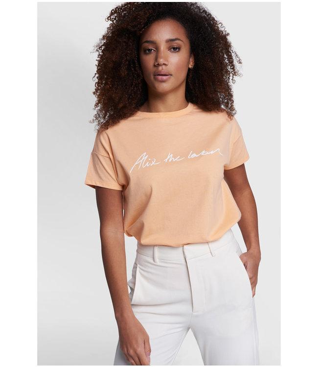 Alix the label T-shirt - light salmon