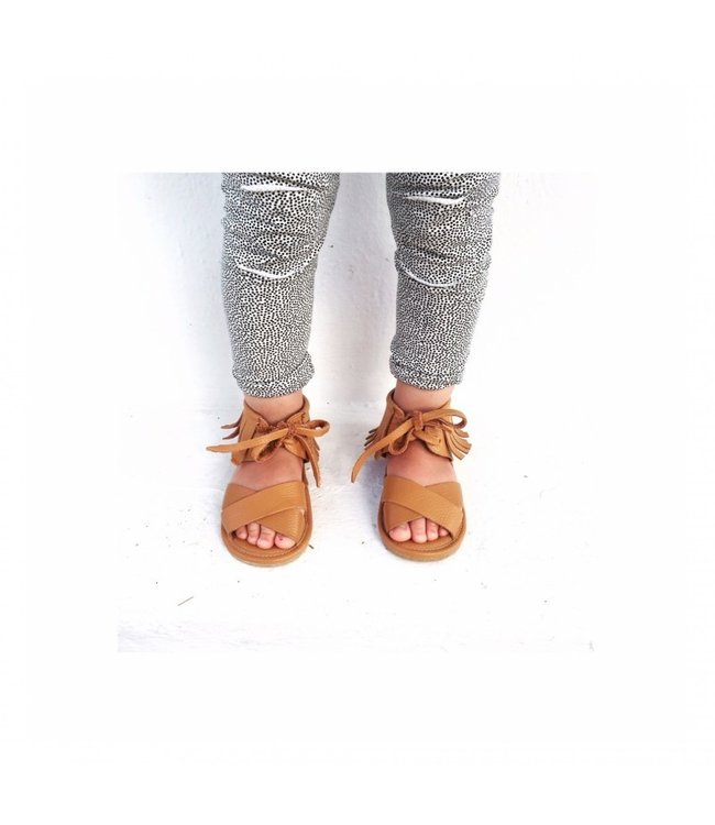 Boho sandal camel