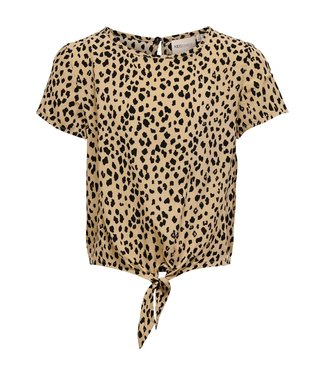 KIDS ONLY KONDANIELLE S/S knot top  15234535 Warm Sand