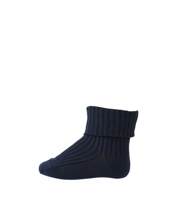 SOCKS 533 COTTON RIB | 142 indigo blue