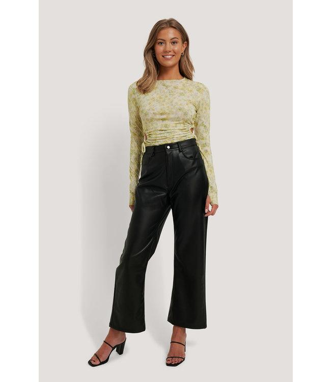 High waist pu pants 006304