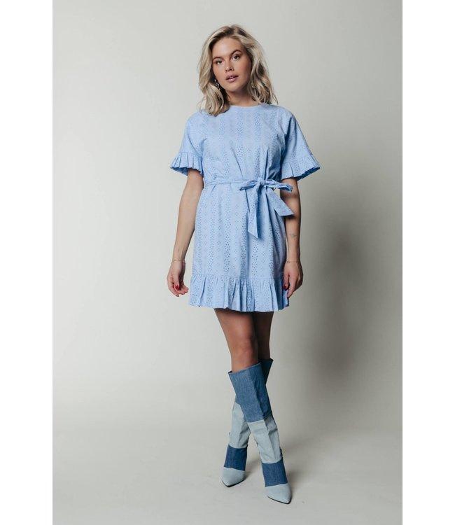 8290 - Beau Broiderie Dress Blue