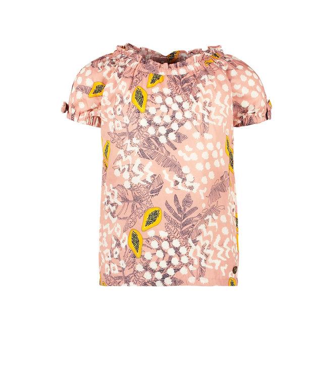 Woven top 103-5120 Pink papaya