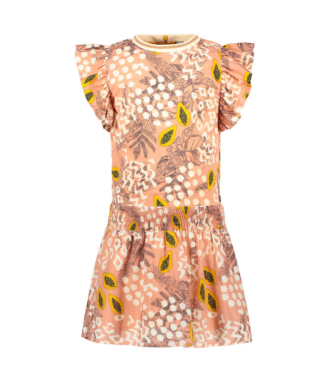Woven dress 103-5812 - Pink papaya