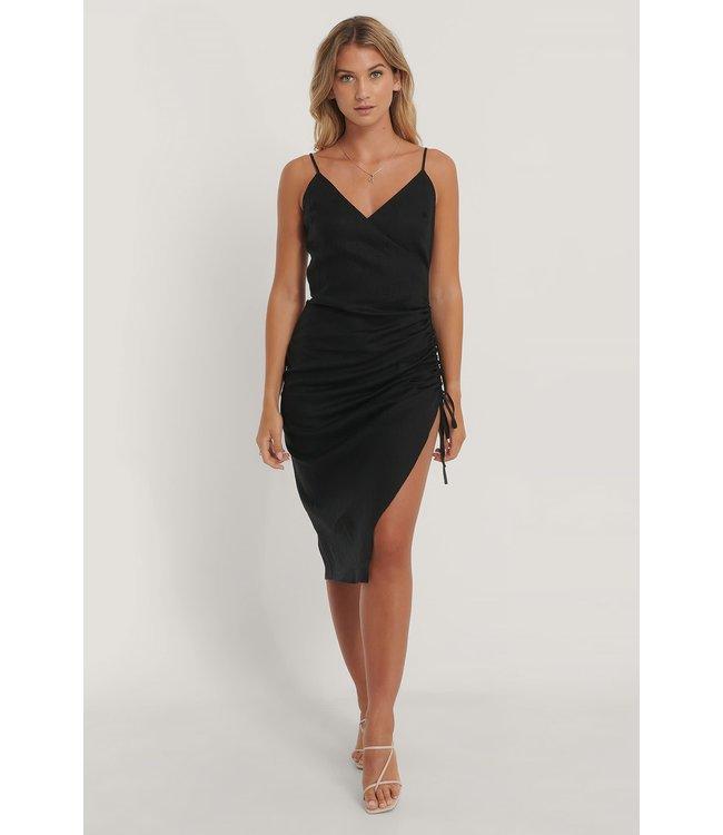 Drawstring Dress 006817 - black
